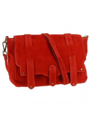 Sac à main en Cuir Duffy, rouge