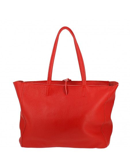 Grand sac en Cuir Ultrech, rouge - dos