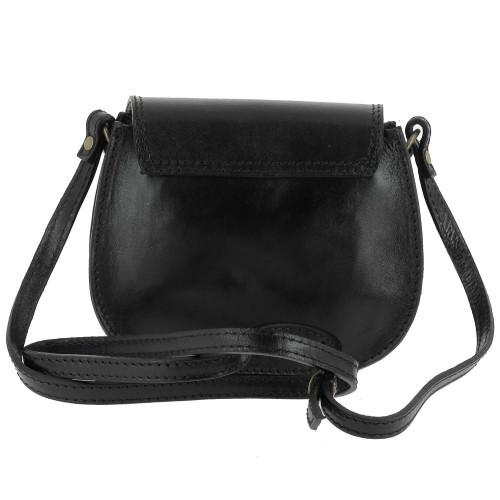 Petit sac Vintage en Cuir Ashley, noir - dos